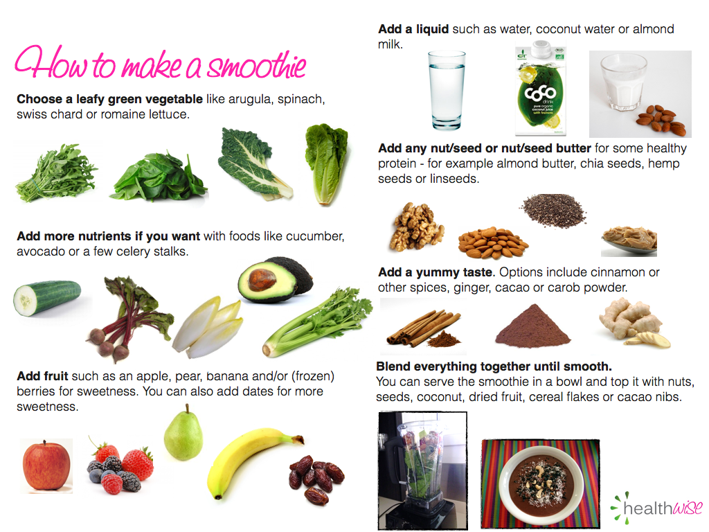 how to make a smoothie Healthy smoothies are beneficial for your whole body and fun to make thick, ice-cream like smoothies are even better they keep you full for longer and are so.