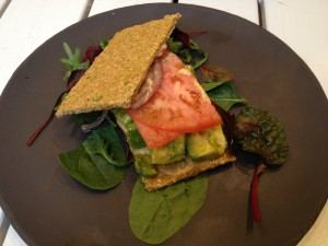 Raw crackers made from seeds and avocado