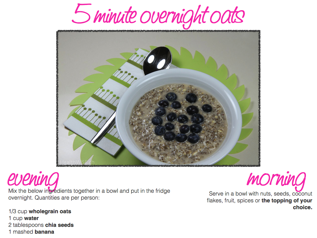 5 minute overnight oats