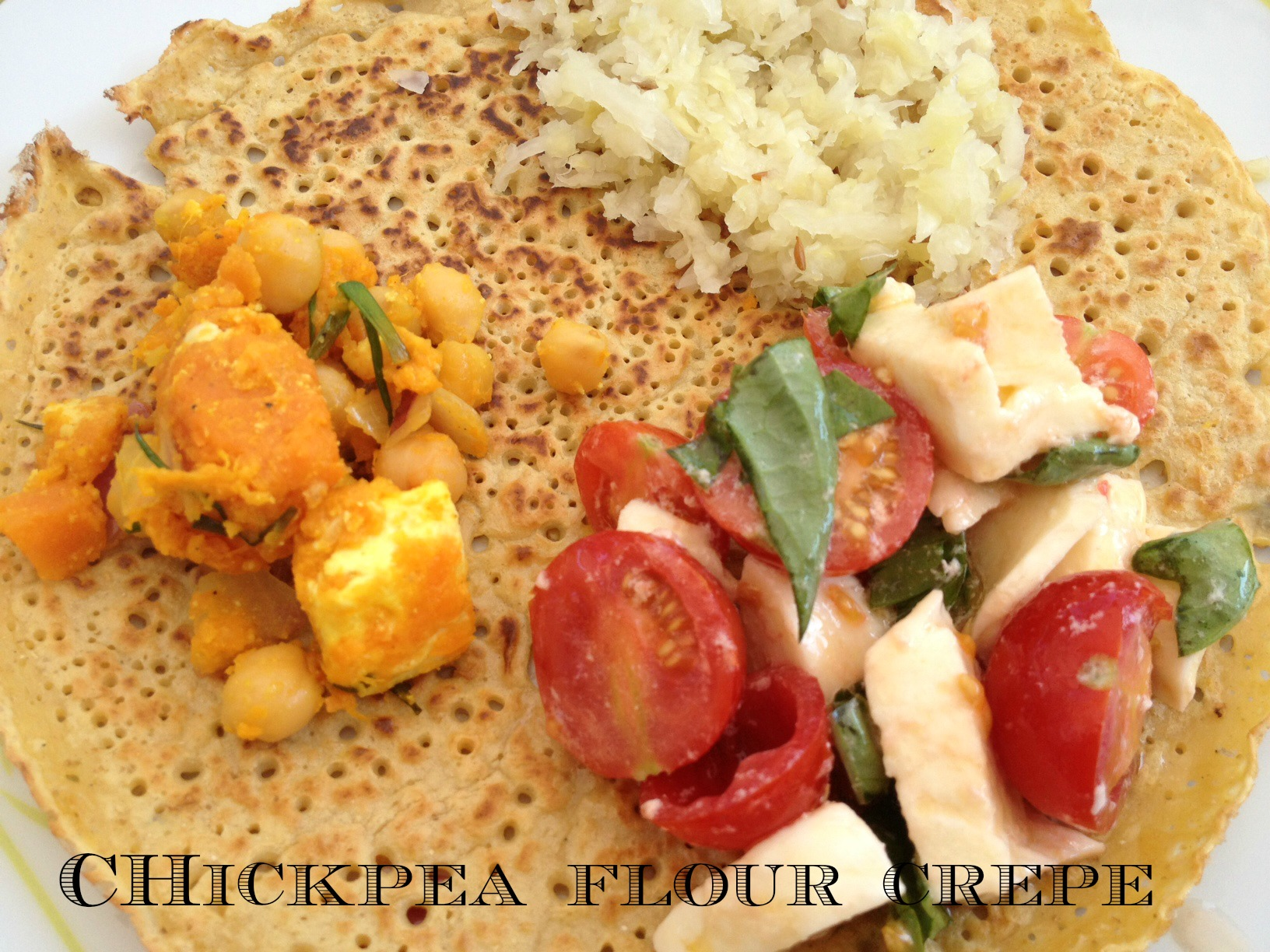 Chickpea flour crepe