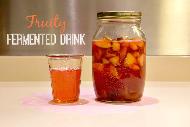 Fruity Fermented drink with text