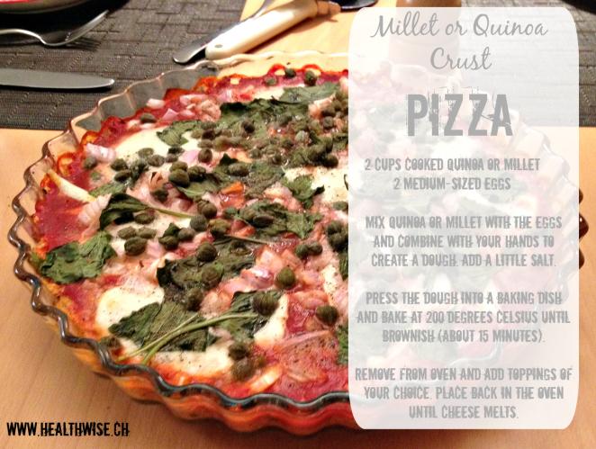 MilletQuinoa Crust Pizza