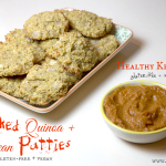 Baked Quinoa + Bean Patties With Healthy Ketchup