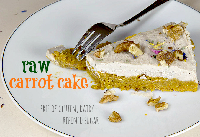 Raw Carrot Cake for the Easter Bunny