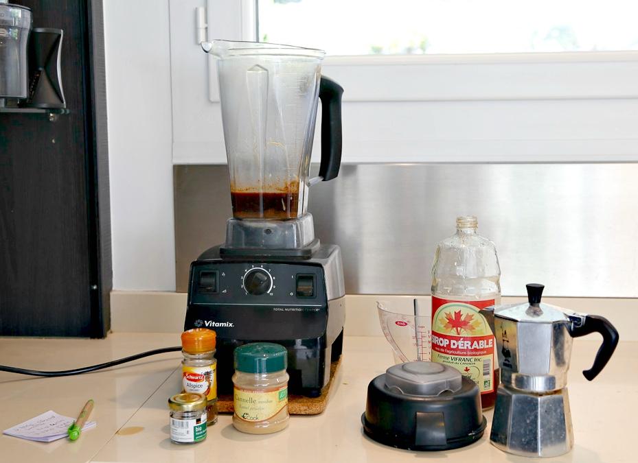 almond spice latte