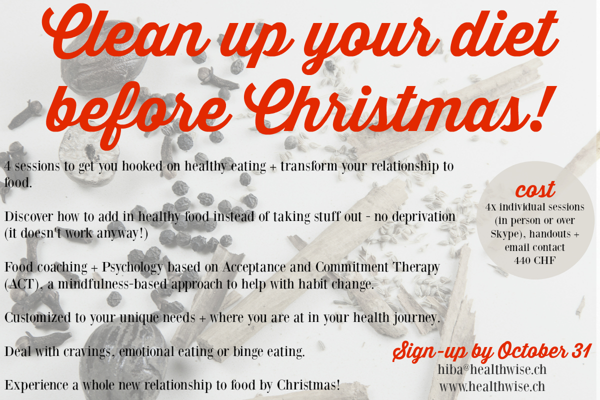 Clean up your diet before Christmas